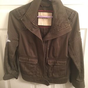 cropped military coat Abercrombie & fitch